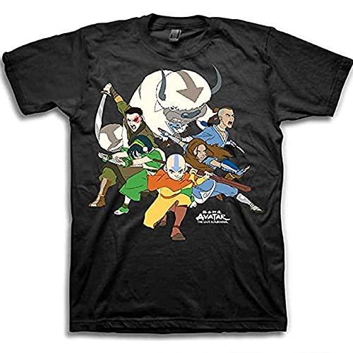 AVATAR The Last Airbender Shirt - Mens The Last Airbender Aang Short Sleeve Tee (Black, X-Large)