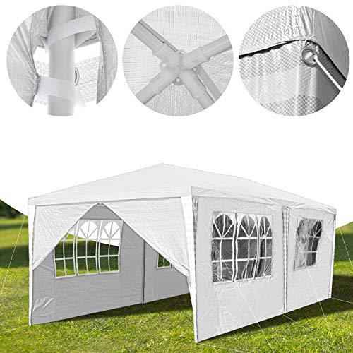 Hengda 3x6m Pavillon Partyzelt UV-Schutz Hochwertiges GartenPavillon Wasserdicht mit 6 Seitenteilen für Hochzeit Party Camping - 6