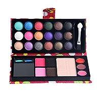 Toumett 26 Colors Eye Shadow Makeup Palette + Lip Gloss Powder Set (14 x 6.5 x 2.1 cm, Red)