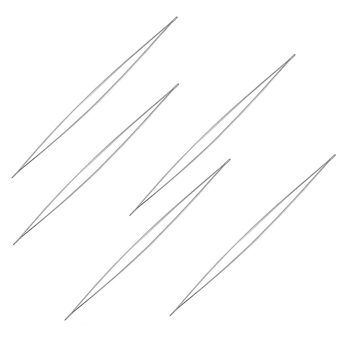 Exceart 10pcs Beading Needle Kit with Storage Bottle and Bead Threader Large Eye Needles for DIY Craft Sewing Jewelry Making 5.8//7.6//10.2//11.5//12.8cm