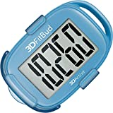 3DFitBud Simple Step Counter Walking 3D Pedometer with Lanyard, A420S (Blue with Clip)