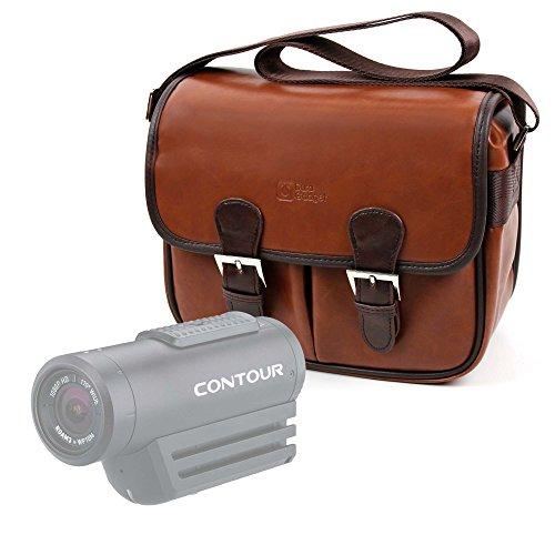 DURAGADGET Bolsa Profesional marrón con Compartimentos para Videocámara Besteker FHD 1080 | Z18 | Z80 | F5 | Y-CAM EVO | DxO One | Vixen Polarie Star Tracker
