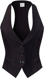 Women's Dressy Casual Versatile Racerback Vest Tuxedo...