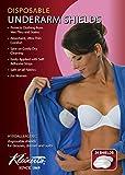 Kleinert's Exclusively for Women Regular Size, Contoured Shape, Disposable Underarm Pads (24 Pads) Style #W-4903CS (Measures: 4 3/8' W x 4 3/4' L). Discreet, Comfortable, Sweat Free, Odor Blocker.