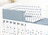Ropa de cama Pro Cosmo, para cunas, 5 piezas, edredón, cojín, protector, 100 %...
