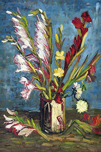 1art1 Vincent Van Gogh - Vase Mit Gladiolen, 1886 Poster Kunstdruck 120 x 80 cm
