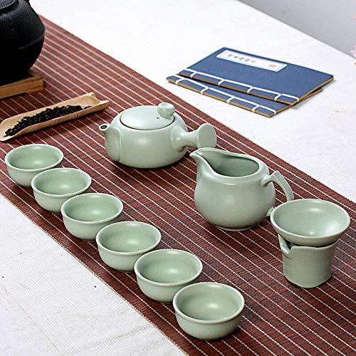 Archaistic Seitengriff Teekanne Ru Ofen 10pcs chinesischer Kung Fu Teaset