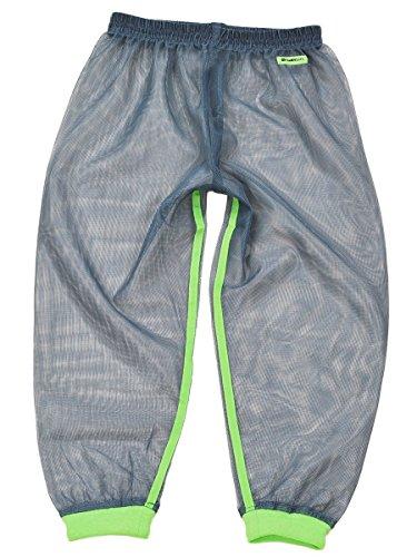 mothKeehi NET PANTS 防虫ネットパンツ 着るかや 子供用 L, グリーン