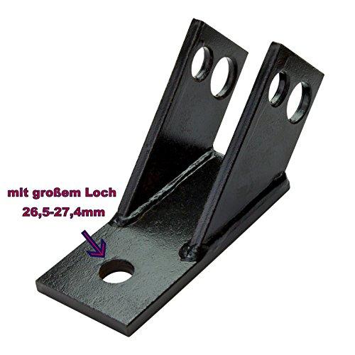 BUZE Verdrehsicherung Kat. 1 & Kat. 2 Ackerschienen (mit 26,5-27,4 mm Loch für Kugelkopf) Kugelkopfbolzen Sicherung