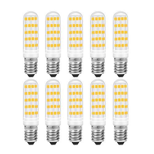 E14 LED Warmweiss 3000K, 7W 700LM ersetzt 70W Halogenlampen, AC 220-240V, Led E14 für Kühlschrank Dunstabzugshaube, 10er Pack