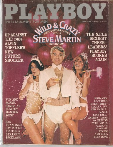 January 1980 Playboy Magazine Wild & Crazy Anniversary Issue with a Steve Martin Interview