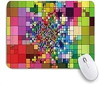 NIESIKKLAマウスパッド 抽象的なカラフルなバロックプラッドモザイクジオメトリモダンな創造的なデザイン ゲーミング オフィス最適 高級感 おしゃれ 防水 耐久性が良い 滑り止めゴム底 ゲーミングなど適用 用ノートブックコンピュータマウスマット