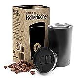 ALL4LUNCH ® Kaffeebecher to Go 350 ml | Travel Mug für Kaffee & Tee | Thermobecher Edelstahl hält über 6 Stunden warm und über 8 Stunden kalt | Thermosflasche Isolierbecher spülmaschinenfest