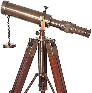 Classic Art Brass Telescope with Tripod Stand Antique Finish Vintage Nautical
