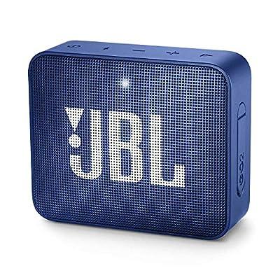 JBL GO2 Portable Bluetooth Speaker with Rechargeable Battery, Waterproof, Built-in Speakerphone, Blue from JBL
