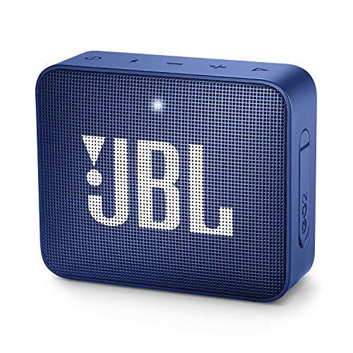 JBL GO 2 kleine Musikbox in Blau – Wasserfester, portabler Bluetooth-Lautsprecher mit Freisprechfunktion – Bis zu 5 Stunden Musikgenuss mit nur einer Akku-Ladung