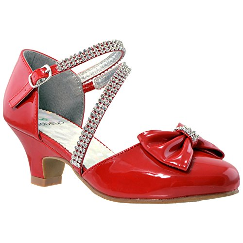 SOBEYO - Sandalias de tacón bajo con lazo de diamantes de imitación, diseño de gatito