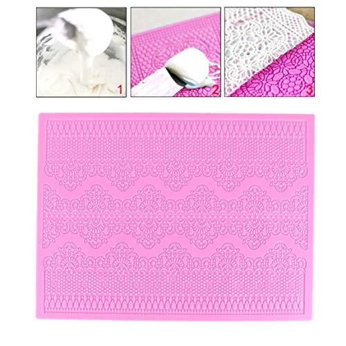 DULALA Molde de Pastel Molde de Almohadilla Molde de Silicona Relieve Pastel Mat Textured Lace Silicone