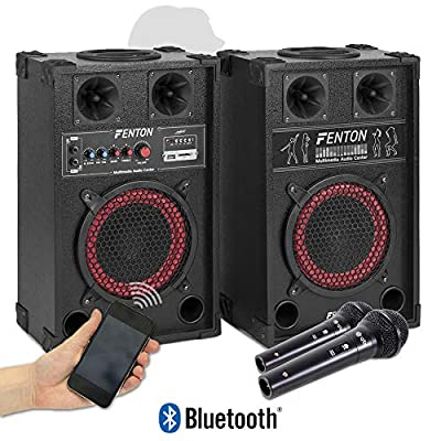 "Active Passive Speaker Set USB SD 8"" 400W with DM11 Microphones"