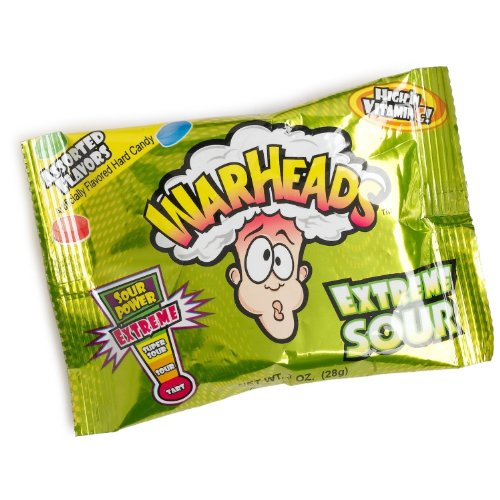 WARHEADS EXTREME SOUR CANDY - 12 COUNT