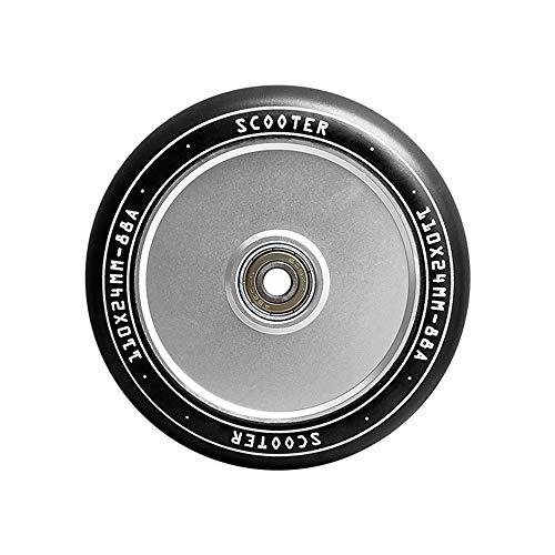 TGHY 110x24mm Rueda de Patinete Premium Rueda de Patinete de Acrobacias Pro 88A con Rodamientos ABEC-9 Núcleo de Metal Hueco Juego de 2