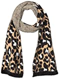 Daily Ritual Print Fuzzy Knit Scarf, Beanie, and Mittens Set cold-weather-scarves, Bufanda con estampado de animales, Talla única