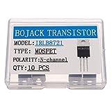BOJACK IRLB8721 MOSFET Transistor IRLB8721PBF 30 V 62 A MOSFET di potenza canale N TO-220 (confezione da 10 pezzi)