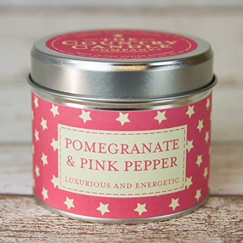"The Country Candle Company Superstars Collection ""Granatapfel und rosa Pfeffer"" Kerze in Dose, mehrfarbig"