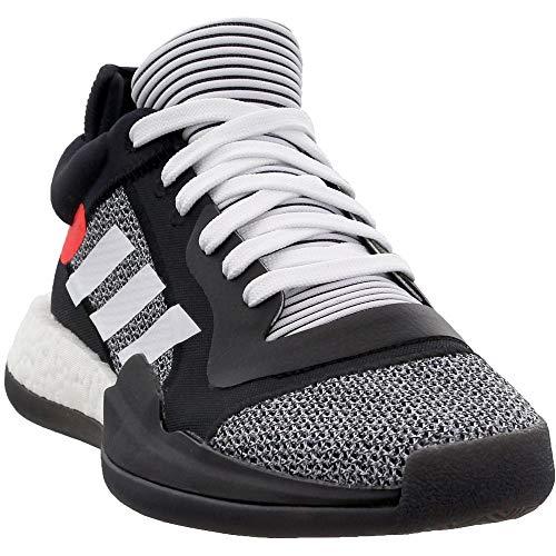 Adidas Marquee Boost Low Basketball scarpe casual, da uomo, (Nucleo nero-bianco-rosso solare), 41 EU