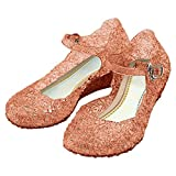 Katara-Zapatos De Princesa Elsa Frozen Con Cuña Disfraz Niña, color dorado, EU 30 (Tamaño del fabricante: 32) (ES10)