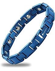 磁気ブレスレット Eppinn 純度99.99% ゲルマニウム3粒 5色