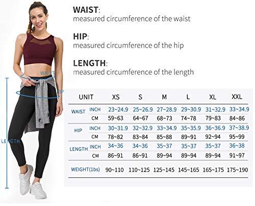PHISOCKAT High Waist Yoga Pants for Women, Tummy Control 4 Way Stretch Yoga Leggings with 3 Pockets (Black, X-Small)