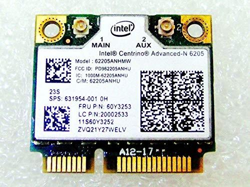 De repuesto para portátil HP 631954–001INTEL 620562205AN HMW Half Mini PCIe PCI-Express WLAN inalámbrica Wifi tarjeta memoria