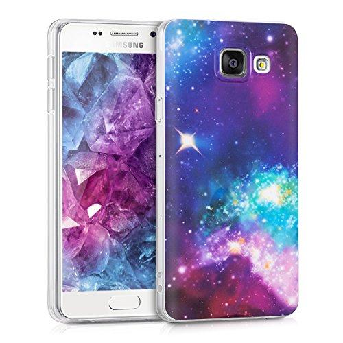 kwmobile Hülle kompatibel mit Samsung Galaxy A3 (2016) - Handyhülle - Handy Case Space Mehrfarbig Pink Schwarz