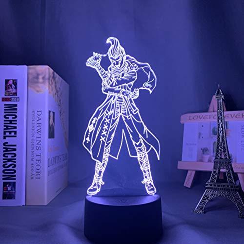 Danganronpa 2 Led luz nocturna Gundham Tanaka lámpara para decoración del hogar niños regalo Danganronpa acrílico 3d lámpara Gundham Tanaka
