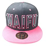 Waifu HAT in Black with Pink Brim