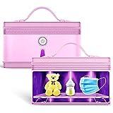 Esterilizador Ultravioleta Bolsa de esterilización UVC Portátil Plancha para plastias UV Caja de esterilización Bolsa Tamaño: Tumid 28x22x18cm Sunshine20 (Color : Pink)