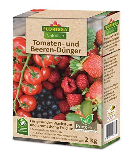 Florissa Natürlich 58677 Tomaten-und Beeren Dünger | Bio-Dünger mit ProtoPlus | biologisch GÄRTNERN Gütesiegel