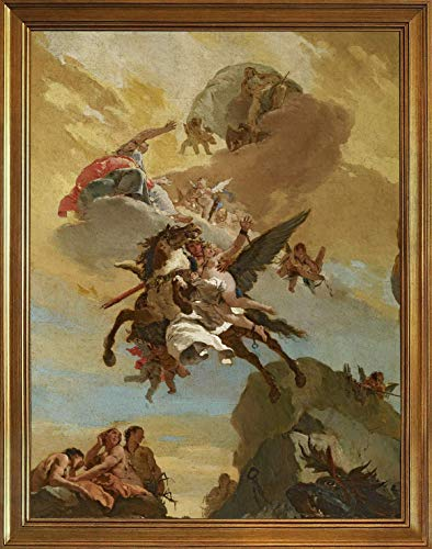 Funny Pub Home Decor Aluminum Metal Sign 12x16in,Classic Giovanni Battista Tiepolo Canvas Print Paintings Poster Home Decor Reproduction(Perseus and Andromeda)