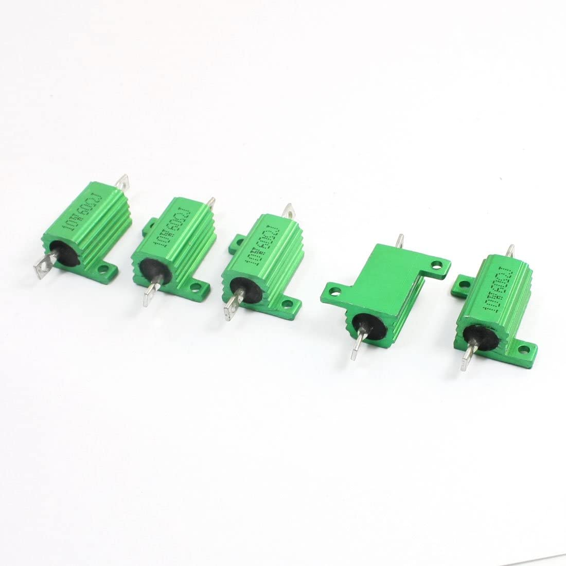 Aexit Houston Mall 5Pcs 68 Fixed Resistors Ohm Heatsink 10W Clad Soldering Aluminium 5%