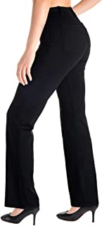 Belt Loops, Women's Petite/Regular/Tall Bootcut Dress Yoga Work Pants