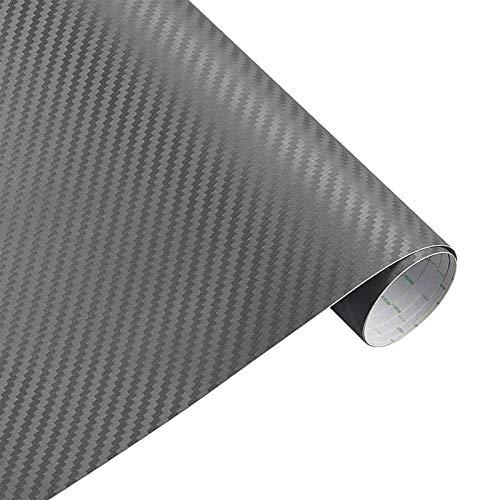 DSQ 30cmx127cm 3D-Carbon-Faser-Vinylauto-Verpackungs-Blatt-Rolle Film-Auto-Aufkleber und Abziehbilder Motorrad-Auto-Styling-Zubehör Automobil (Color Name : Gray)