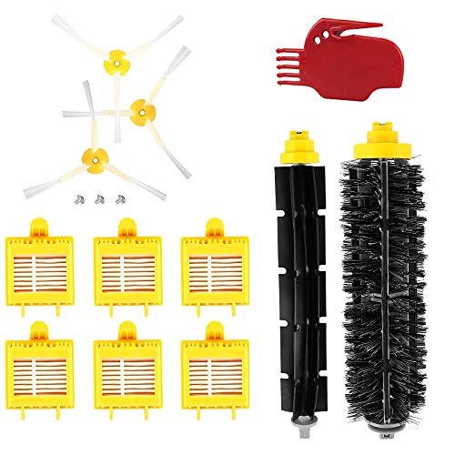 Feicuan Kit de Reemplazo para iRobot Roomba 700 Serie Accesorios Filtros Hepa Cepillos de cerdas Flexible Cepillos y Cepillos Laterales de 3 Brazos para 720 750 760 770 780 790 Limpiador de Robots
