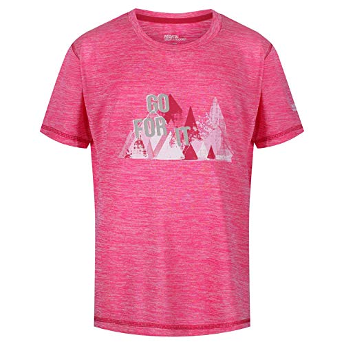 Regatta Alvarado Iv Kinder-T-Shirt, schnelltrocknend, UV-Schutz, aktives T-Shirt XL Cabaret