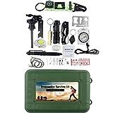 ele ELEOPTION Mehrfunktion Survival Kit Notfallset Outdoor Werkzeug Set Erste Hilfe Kits inkl....