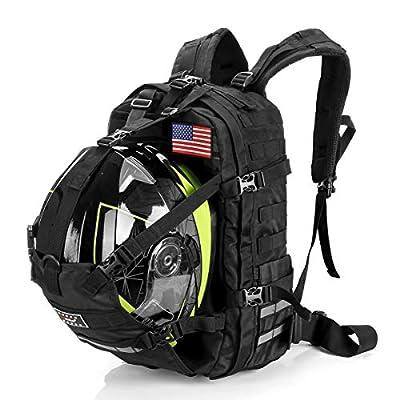 Motorcycle Cycling Helmet Backpack for Men Women, Large Capacity Waterproof Helmet Holder, Helmet Storage Bag School Backpack, Black by Hutigertech