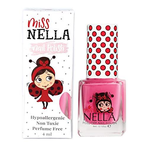 Miss Nella PINK A BOO- Spezieller Rosa Nagellack für Kinder, Peel-Off-Formel, wasserbasiert und geruchsneutral