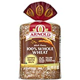 NO ADDED NONSENSE: Arnold Whole Grains 100% Whole Wheat Bread is free from artificial preservatives, colors & flavors Contains no high fructose corn syrup & 0g trans fat Made with 23 grams of whole grains per slice and is a good source of fiber Baked...