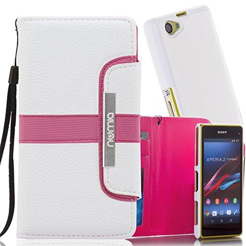 numia Funda protectora para Sony Xperia Z2 [funda extraíble] de piel sintética con tarjetero [rosa]