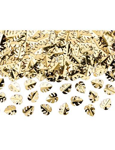 Générique - Confettis de Table Feuilles Tropicales dorées métallisées 15 g